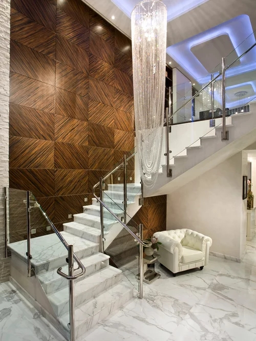 Marble Staircase Home Design Ideas Pictures Remodel And | Tiles Design For Stairs Wall