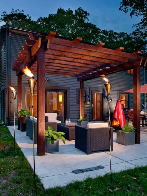 30 Trendy Backyard Patio Design Ideas - Pictures of ... on Patio Renovation Ideas id=77513