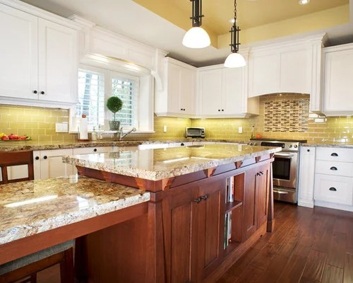 Yellow Subway Tile Home Design Ideas, Pictures, Remodel