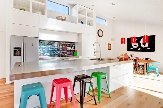 Contemporary Kitchen by Lucy G Printed Image Splashbacks