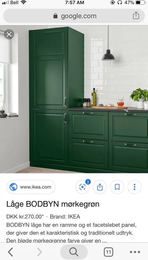 Ikea Dark Green Cabinets