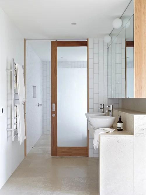 bathroom sliding door | houzz