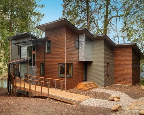 Horizontal Wood Siding Home Design Ideas, Pictures ... on Contemporary Siding Ideas  id=96967