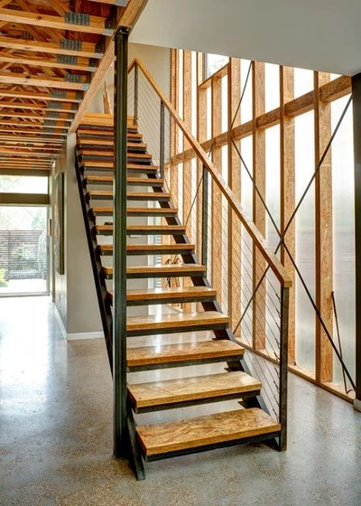 Contemporary Staircase by A.GRUPPO Architects - Dallas