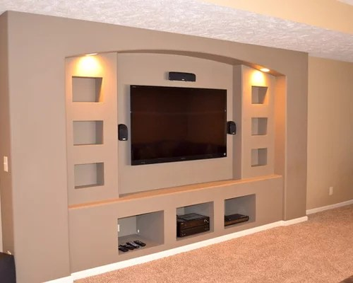 Drywall Entertainment Center Home Design Ideas Pictures Remodel And Decor