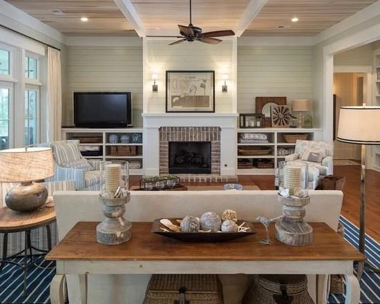 Beach Style Living Room Ideas Ceiling