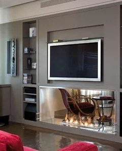 soggiorno con cassetti e pensile sagomato dipo arredo design online mobili soggiorno arredamento. Consigli Per Parete In Sala Con Libreria Tv Camino Bioetanolo