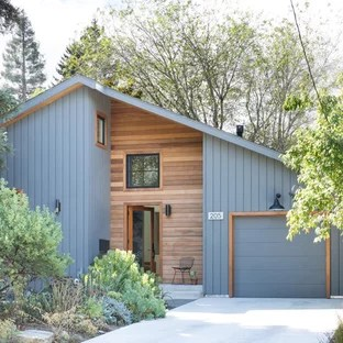 75 Beautiful Midcentury Modern Exterior Home Pictures ... on Modern House Siding Ideas  id=61545