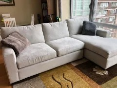 crate and barrel axis ii sectional in