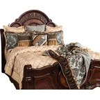 Nathaniel 9 Piece Comforter Set King Brown Modern