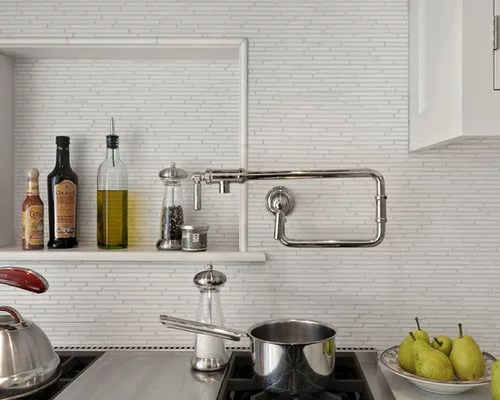 White Kitchen Wall Tiles Ideas
