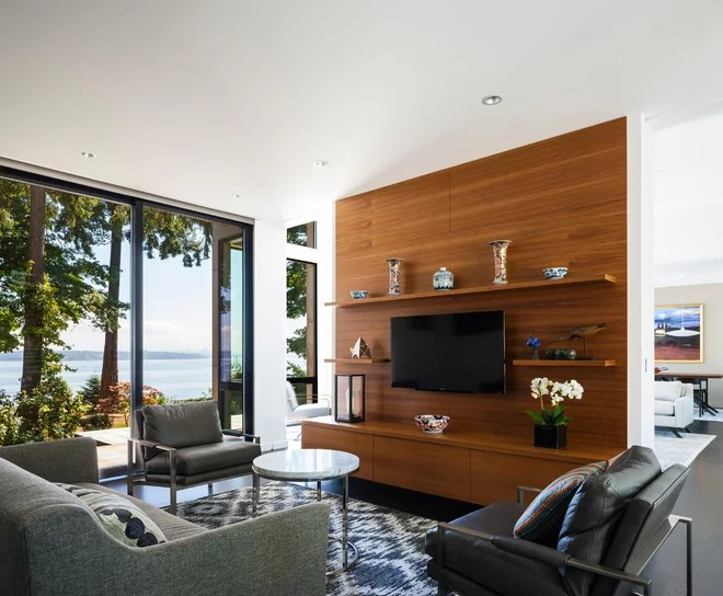 Contemporary Family Room by Johnson Squared Architecture + Planning