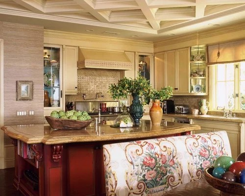 Red Kitchen Island Home Design Ideas, Pictures, Remodel