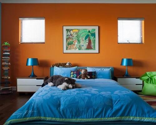 Imagini pentru Orange and Blue bedroom