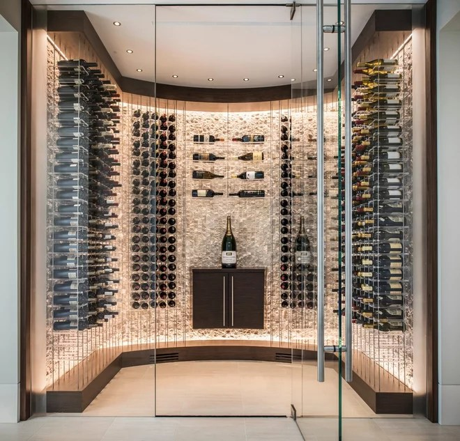 Contemporary Wine Cellar by Kessick Wine Storage Systems