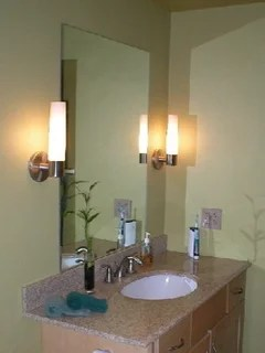 Height of bathroom wall sconces on Height Of Bathroom Sconce Lights id=48478