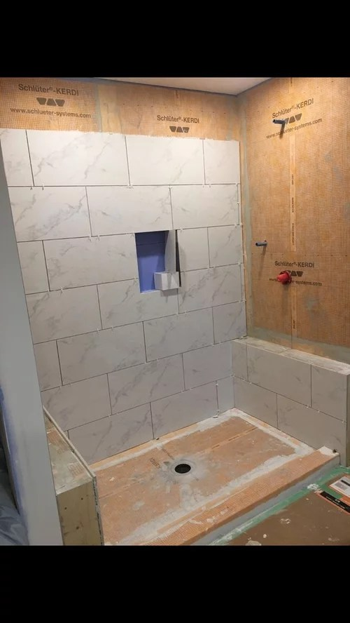 does my marble shower tile look wet