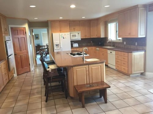 How do I remodel kitchen and keep maple cabinets? on Best Countertops For Maple Cabinets  id=13991