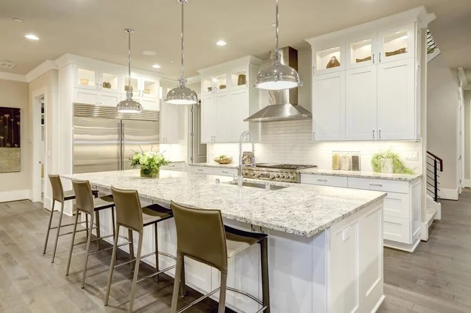Transitional Kitchen by Santa I Contracting Corp