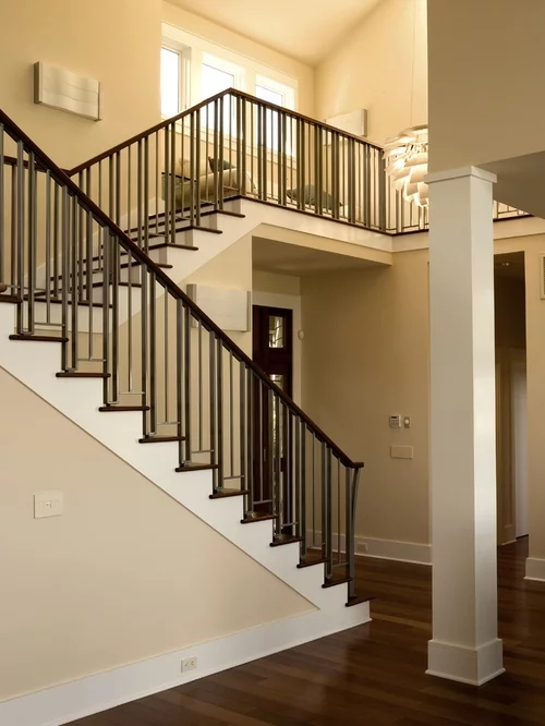 Craftsman Railing Home Design Ideas Pictures Remodel And   Craftsman Style Stair Railing