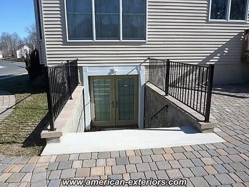 Baby Toddler Proof Exterior Stairs | Outside Stairs To Basement | Walkout | Too Steep | Residential | Both Side | Side Entrance