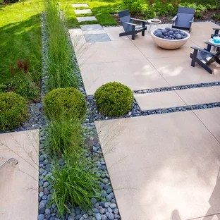 75 Most Popular Back Patio with Concrete Slabs Design ... on Modern Back Patio id=99231