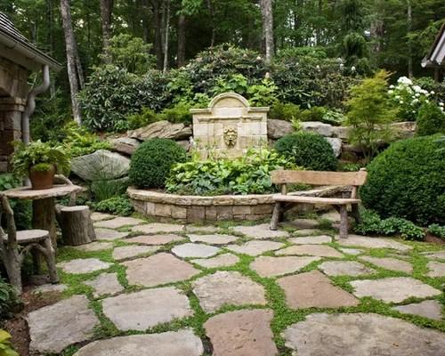 Walkway Stepping Stones | Houzz on Stepping Stone Patio Ideas  id=21335