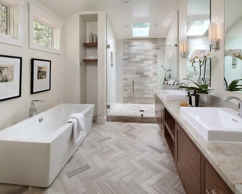 Best Modern Bathroom Design Ideas & Remodel Pictures | Houzz on Modern Small Bathroom Remodel  id=79870