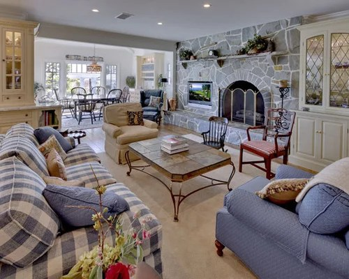 Blue Plaid Couches Houzz