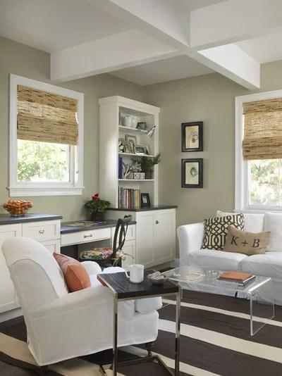 Transitional Living Room by Kate Jackson Design