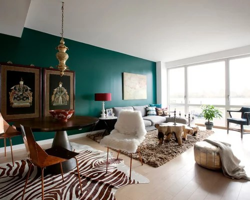 Teal Accent Wall