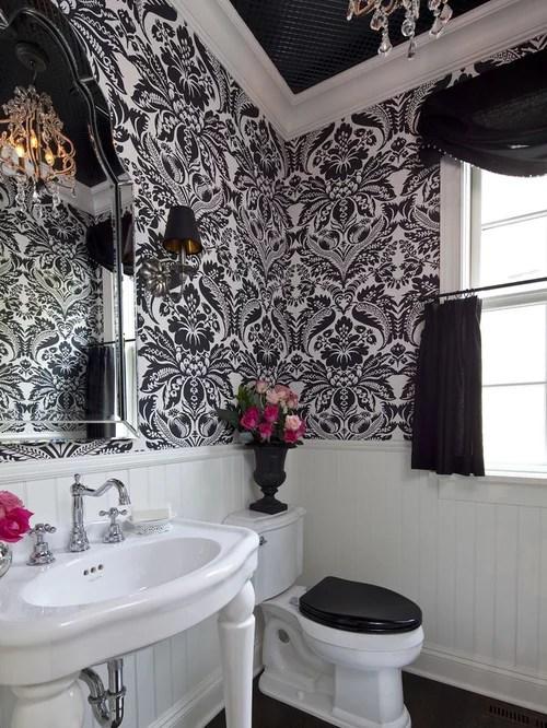 Black And White Bathroom Houzz