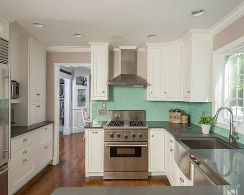 Turquoise Backsplash Houzz