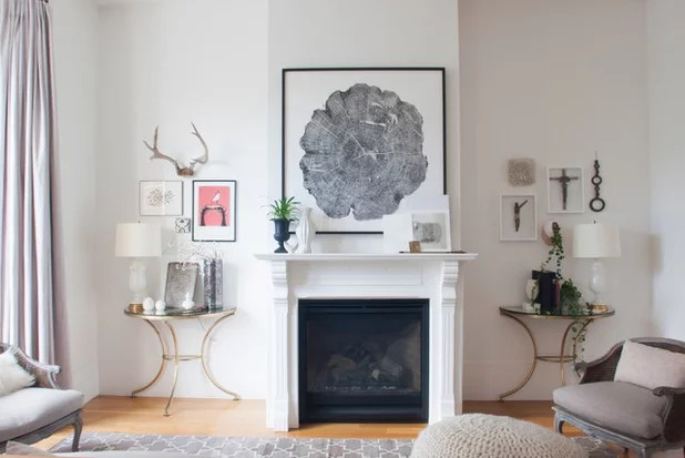 Transitional Living Room by Le Michelle Nguyen