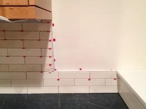 kitchen backsplash drywall transition