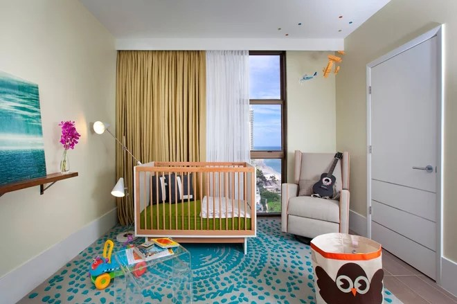 Contemporain Chambre de Bébé by DKOR Interiors Inc.- Interior Designers Miami, FL