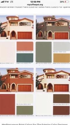 paint and trim color orange tile roof