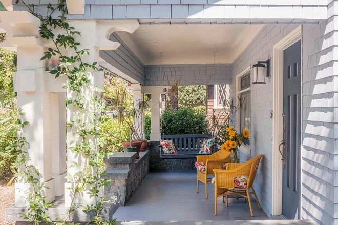 Traditional Porch by Sogno Design Group