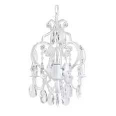 Sleeping Partners Home Fashion 3 Bulb Chandelier White Chandeliers