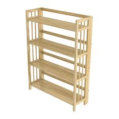 Stony Edge Folding Bookcase 4 Shelves 32 Natural Wood Color