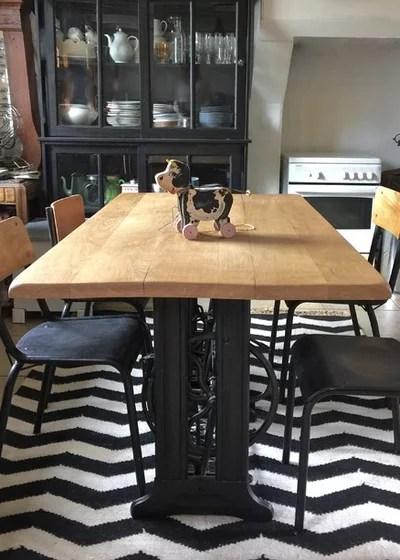 DIY Fabriquer Une Table Indus Avec Des Pieds De Machine