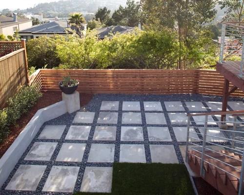 Square Paver | Houzz on Square Concrete Patio Ideas  id=96923