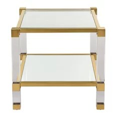 Angie Acrylic End Table Bronze