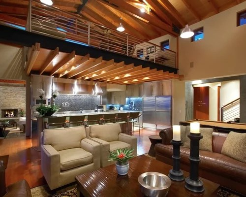 Loft Above Kitchen Home Design Ideas Pictures Remodel And Decor