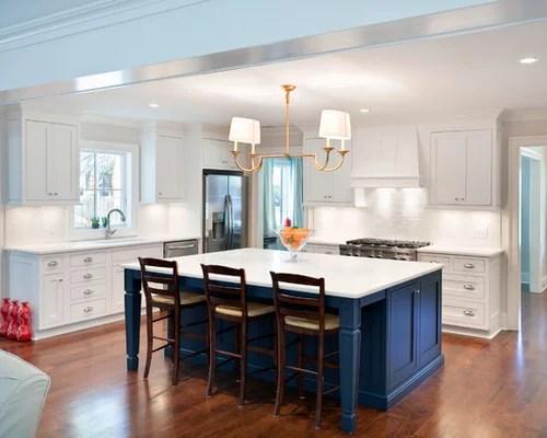 Blue Kitchen Island Home Design Ideas Remodel