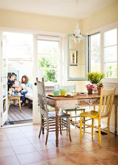 Shabby-chic Style Dining Room by Alison Kandler Interior Design