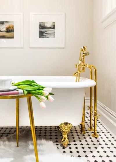 Traditional Bathroom by Leanne McKeachie Design