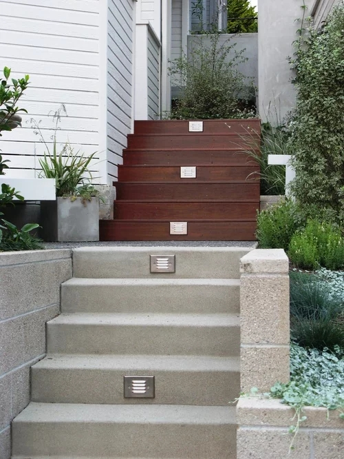 Outdoor Stairs Home Design Ideas Pictures Remodel And Decor   Outside Stairs For House
