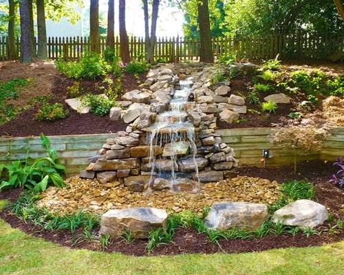 Pondless Backyard Waterfall Stream Design Ideas & Remodel ... on Backyard Stream Ideas id=49016