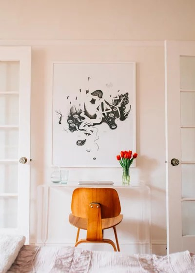 Midcentury Home Office by Nanette Wong